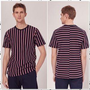 Rag and Bone Disrupted Striped Tee Shirt XS
